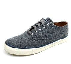 Sperry Top Sider Womens 8 Wool Shoes Gray Lace Up Low Top Sneakers D13-CH171 - $27.88