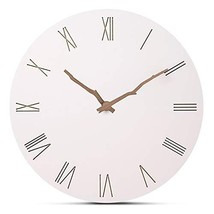 "FlorLife 12"" Vintage Roman Numeral Wall Clock, Simple European Style MDF... - $26.20"