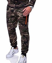 Fashion Men Camouflage Slim Jogger Pants Elastic Waist Plus Size Broadcloth Type - $22.95