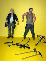 The Walking Dead Action Figures - DARYL + MERLE - Series 4 - Loose -  MC... - $17.00