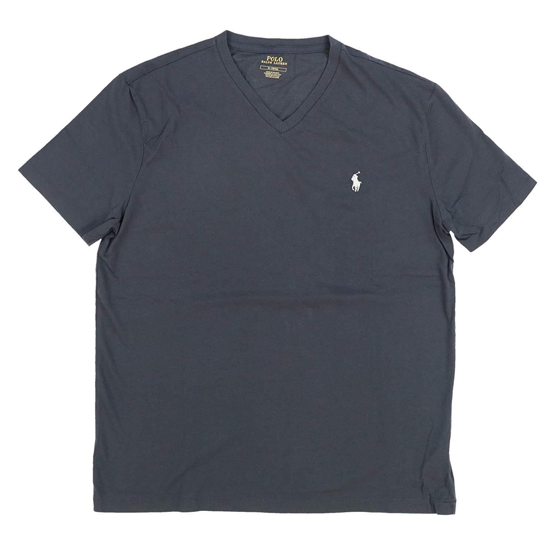 Polo Ralph Lauren V-Neck Modern Classic-Fit T-Shirt Mens Charcoal Grey L XL  XXL - $33.99