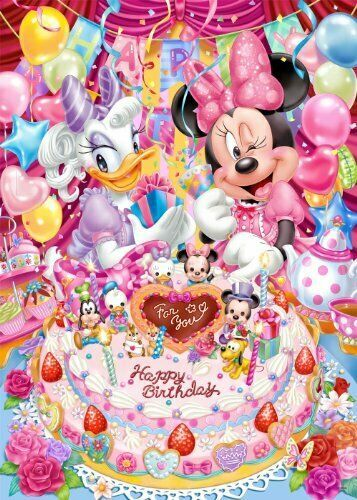 Primary image for *Birthday party of 500-piece jigsaw puzzle Disney Minnie and Daisy (35x49cm)