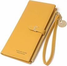 Women's Wallet Long Zipper Purse,Leather Clutch Wallet,Leather Card Hold... - $20.12