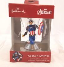 Hallmark Ornament Red Box Marvel Avengers Captain America NIB New  - $14.02