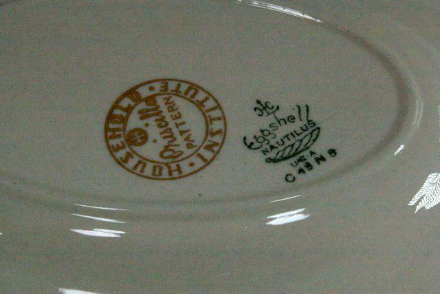 Household Institute Homer Laughlin Priscilla Gravy Boat With Under Plate N1639 image 4