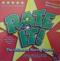 Rate It! The Ultimate Rating Game by Chillin' Games (NIB) - $14.80