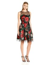 Sandra Darren Women's Sd Collection Sleeveless Floral Shantung Dress wit... - $89.75+