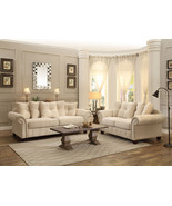 AUSTIN - New Oversized Transitional Cream Chenille Sofa Couch Set Living... - $1,912.79