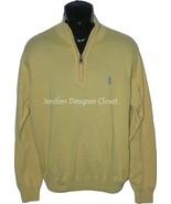 New BOBBY JONES Golf pullover 1/4 zip XL yellow blue monogram logo sweater - $58.19