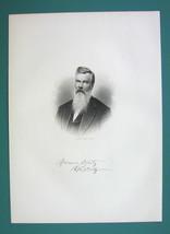 ROBERT McKELLY Ohio Railroad Director & Senator - SUPERB Portrait 1883 Print image 2