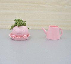 Pink Oddish Planter, pokemon planter,3D printed pot,Planter with waterin... - $40.00+