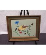 Leather 3D Wall Art Marjorie Decker Framed Goldfinch 12 By 15 - $18.63