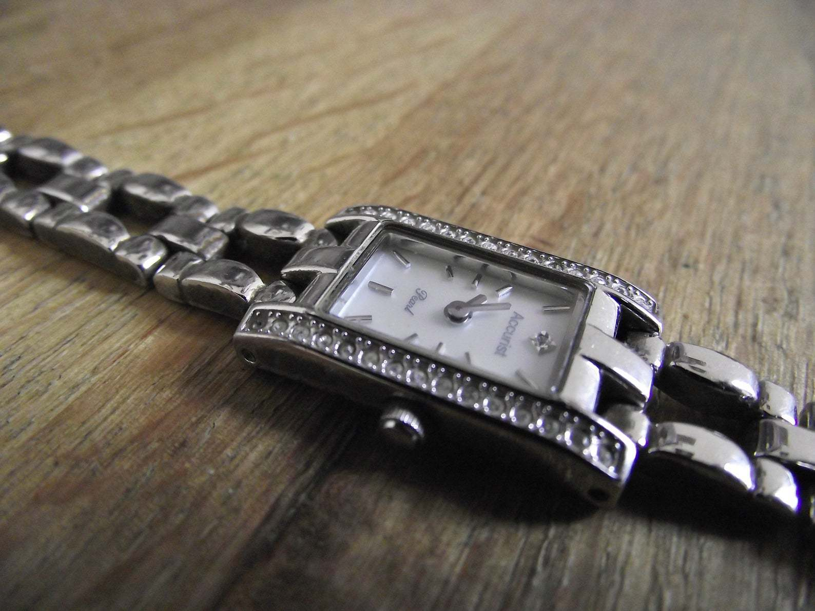 Primary image for vintage watch / Dimond accurst quartz watch / watch / gift for her / ladies