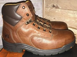 "Timberland Pro Titan Endurance 6"" Brown Leather Safety Toe Work Boots Me... - $2.542,38 MXN"