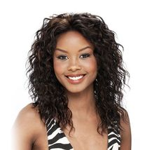 IT'S A WIG LACE HH AMBER 100% HUMAN HAIR LACE FRONT WIG CURLY WAVY WIG