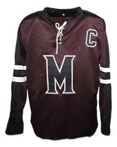 Any Name Number Mystery Alaska Movie Hockey Jersey Brown Biebe Any Size image 4