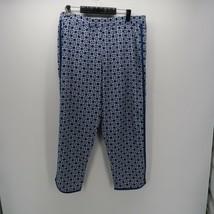 Mud Pie Black White Diamond Print Elastic Waist Lounge Pajama Pants Size L - $14.00