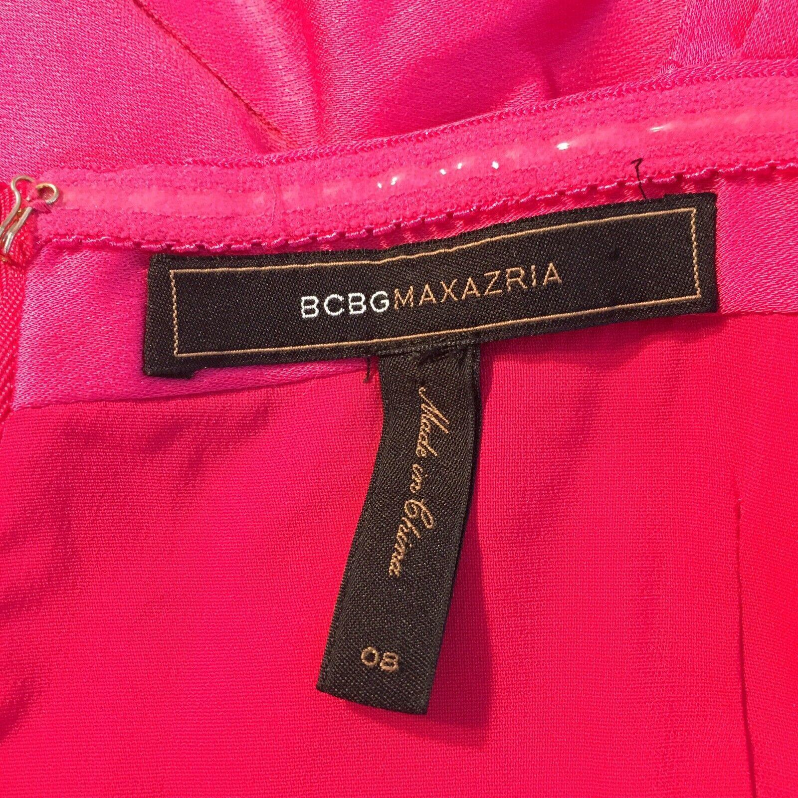 BCBG Max Azria Women's Pink One Shoulder Formal Cocktail Dress Size 8