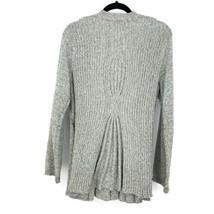 Anthropologie Rosie Neira Womens Sz L Marled Gray Cardigan Sweater Single Button image 2