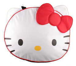 New Sanrio Hello Kitty Face Large 20x16x7 Head Overnight White Travel Bag NWT image 1
