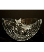 Shannon Designs of Ireland 24% Lead Crystal Bowl ~Frosted Butterfly ~Dr... - $49.90