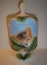 Fenton Glass Tiger Cat Chessie Box FAGCA Ltd Ed of 30 by CC Hardman 2016 - $193.52