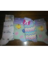 Set 4 Pairs Ladies Easter Ankle Socks Colorful chicks Eggs Bunny Zig Zag... - $19.57