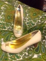 Lauren Ralph Lauren Shelbi Women's Beige Patent Round Toe Pumps Heels Shoes 6.5M - $29.69