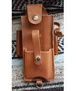 Handmade Amish Logger Leather felling falling bucking wedge Timber cutter Pouch - $59.00