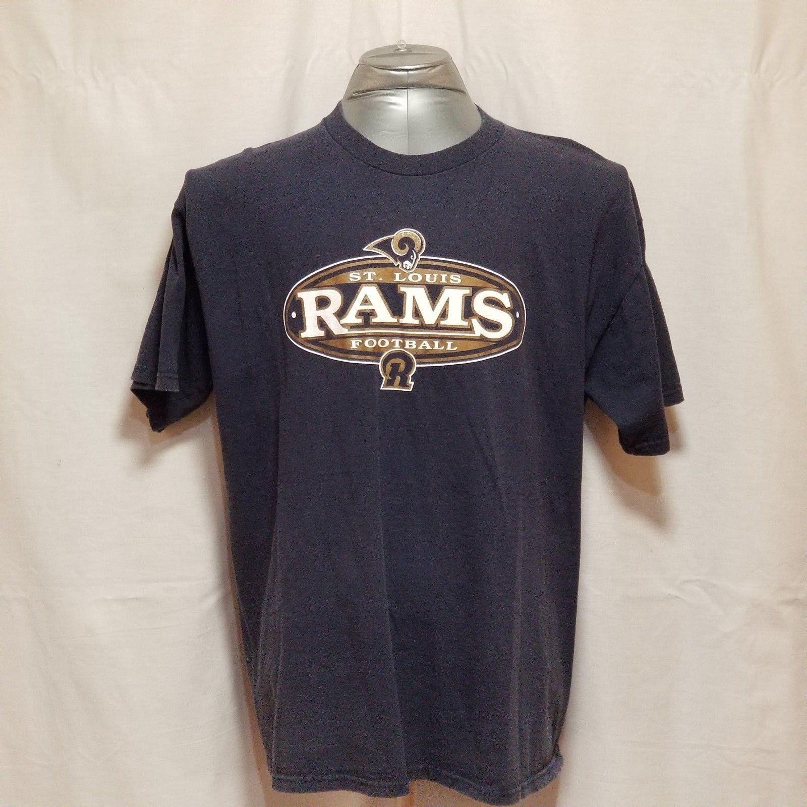 St. Louis Rams NFL Football Mens Size XL Blue Short Sleeve T Shirt