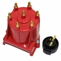 GM 90° V6 262 ci 4.3 6-Cylinder TBI EFI Distributor Cap & Rotor Kit Red Chevy image 1