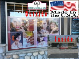 Solar VII Perforated 70/30 See Through Window Poster Service Nail Salon Vertical image 2