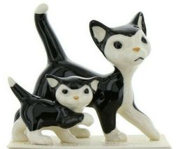 Hagen Renaker Cat Black and White Tuxedo Papa and Kitten Ceramic Figurines image 10