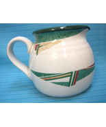 Noritake Stoneware New West #8696 Creamer Southwestern Pattern White Green - $28.95