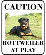 #6 ROTTWEILER AT PLAY PET DOG SIGN - $10.29