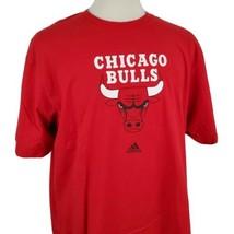 Adidas Chicago Bulls T-Shirt Mens 2XL Crew S/S Cotton Red NBA Basketball... - $14.99
