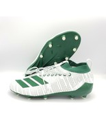 Adidas Adizero 8.0 Football Cleats 3-Stripe Life White Green G27959 Size 11 - $79.19
