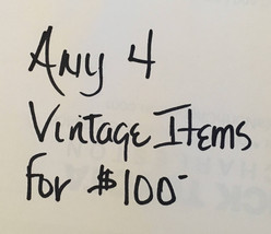 Sale - Any 4 Vintage Items Including Earrings, Bracelets, and Brooches f... - $100.00