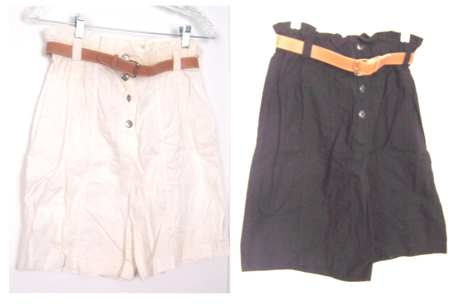 Primary image for Sz 5/6,7/8,9/10 - Tarazzia 100% Cotton Shorts w/Belt in White or Black