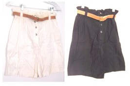 Sz 5/6,7/8,9/10 - Tarazzia 100% Cotton Shorts w/Belt in White or Black - $34.99