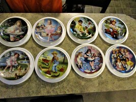 "Complete Set of 8 Danbury Mint ""Children of the Week""  Plates w/ Certifi... - £94.94 GBP"