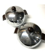 Mid century West Bend Penguin Insulated Chrome Bakelite Server Ice Bucke... - $49.49