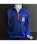 New York Rangers Long Sleeve Half Zip Performance Pull Over Size S-CH-P-... - $29.99