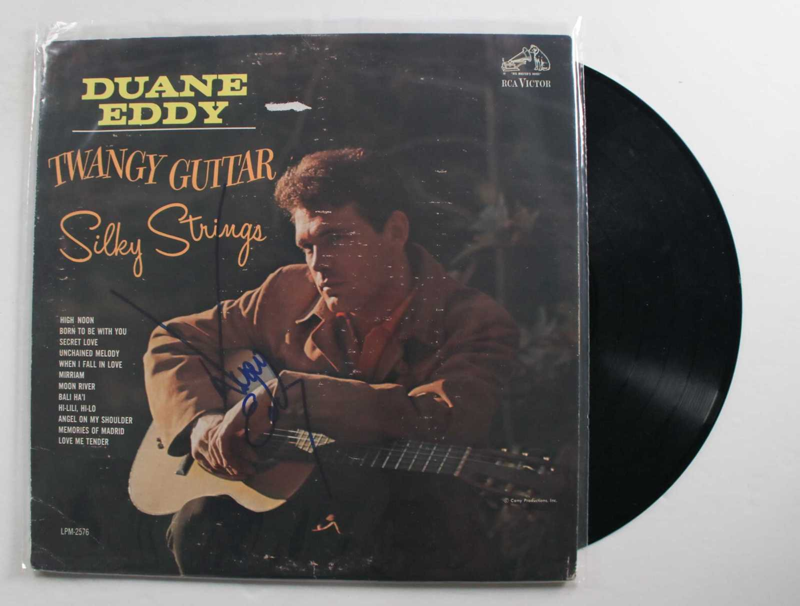 "Primary image for Duane Eddy Signed Autographed ""Twangy Guitar Silky Strings"" Record Album"