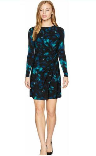 Ellen Tracy - XL  Twisted Waist Dress (Aurora Night Sky) Women's Dress NEW