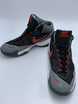 Nike Mens 11 Airmax Audacity 2015 Gray Red Basketball Shoes Hi Top 70492... - $21.99