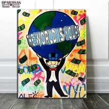 """Alec Monopoly """"The world is yours"""" HD print on canvas large wall picture... - $27.91"""
