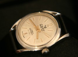 Vintage men's 1970's Restored & Serviced Swiss 17Jewel Camy military wristwatch - $74.25