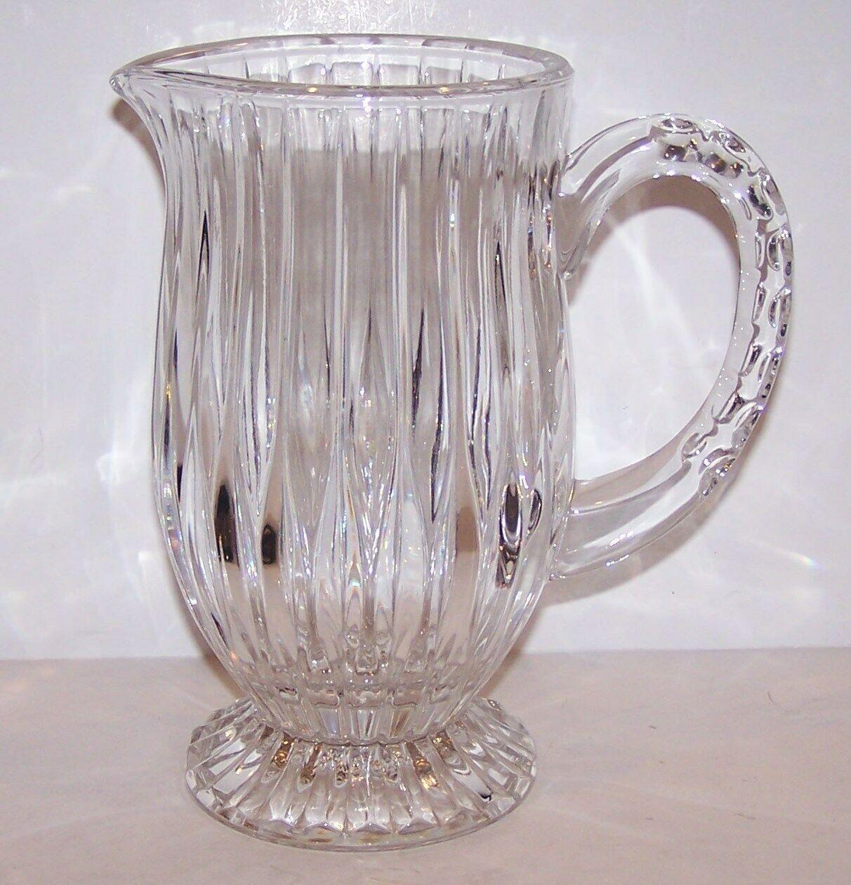 Primary image for STUNNING MIKASA CRYSTAL PARK LANE FOOTED PITCHER