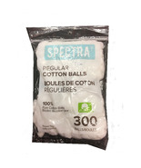 SPECTRA REGULAR SIZE 100% PURE COTTON BALLS - 300 COUNT PER PACK - 3 PACKS - $15.59
